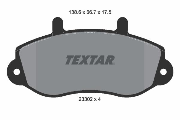 Тормозные колодки дисковые MINTEX арт. 2330201
