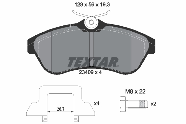 Тормозные колодки дисковые MINTEX арт. 2340902