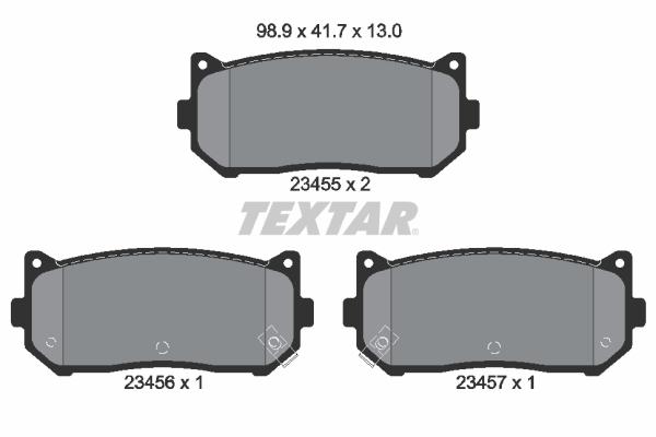 Тормозные колодки дисковые MINTEX арт. 2345501