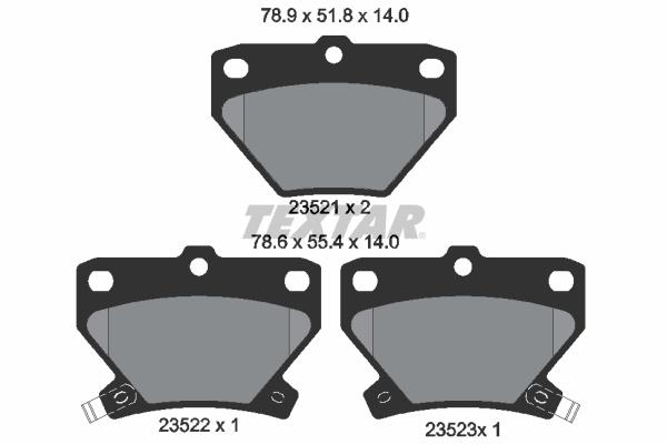 Тормозные колодки дисковые MINTEX арт. 2352101