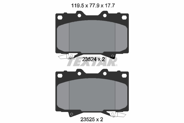 Тормозные колодки дисковые MINTEX арт. 2352402