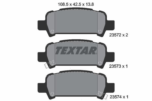 Тормозные колодки дисковые MINTEX арт. 2357202