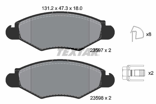 Тормозные колодки дисковые MINTEX арт. 2359703