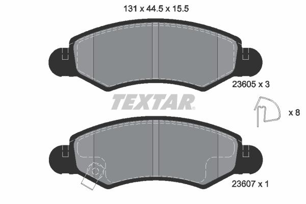 Тормозные колодки дисковые MINTEX арт. 2360501