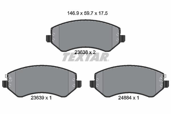 Тормозные колодки дисковые MINTEX арт. 2363801