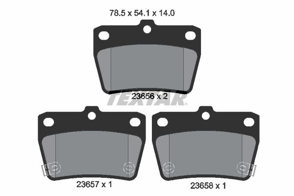 Тормозные колодки дисковые MINTEX арт. 2365601