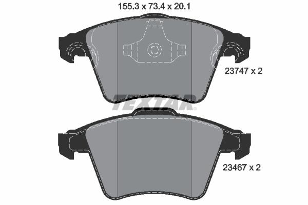 Тормозные колодки дисковые MINTEX арт. 2374702