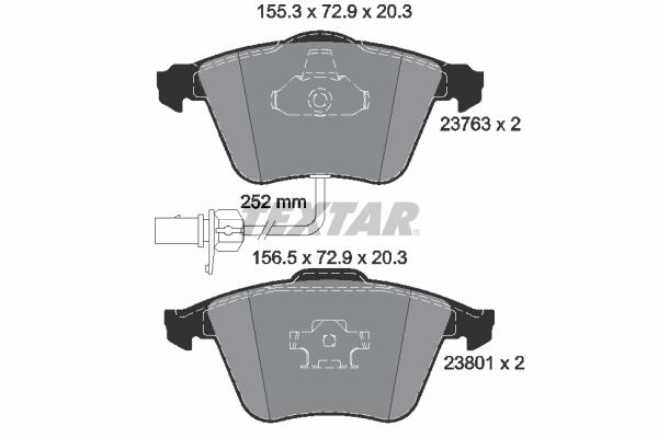 Тормозные колодки дисковые MINTEX арт. 2376302