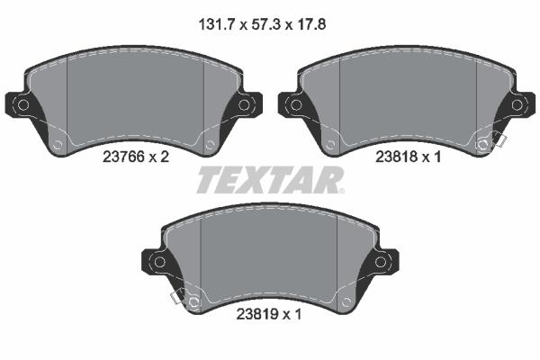 Тормозные колодки дисковые MINTEX арт. 2376601