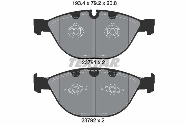 Тормозные колодки дисковые MINTEX арт. 2379101