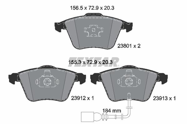 Тормозные колодки дисковые MINTEX арт. 2380101