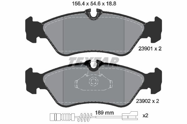 Тормозные колодки дисковые MINTEX арт. 2390101