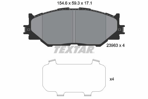 Тормозные колодки дисковые MINTEX арт. 2398301
