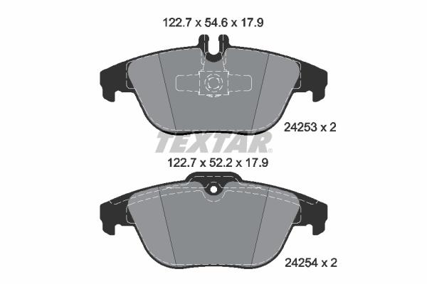 Тормозные колодки дисковые MINTEX арт. 2425381