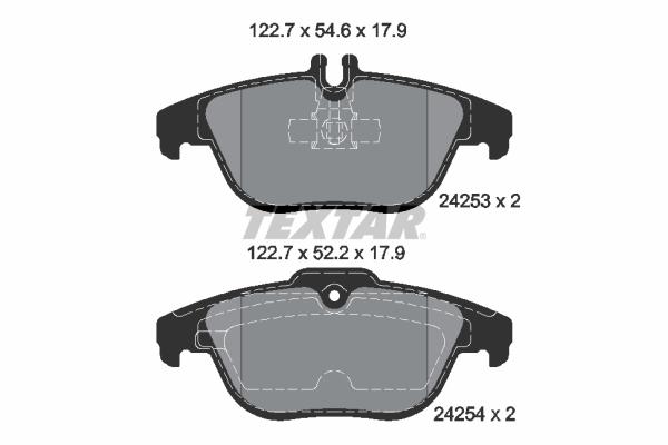 Тормозные колодки дисковые MINTEX арт. 2425301