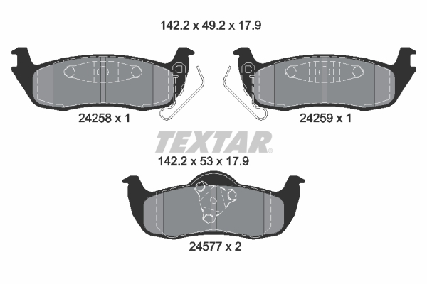 Тормозные колодки дисковые MINTEX арт. 2425801