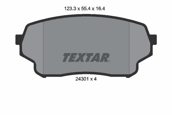 Тормозные колодки дисковые MINTEX арт. 2430101