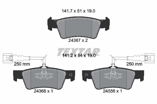 Тормозные колодки дисковые MINTEX арт. 2436701