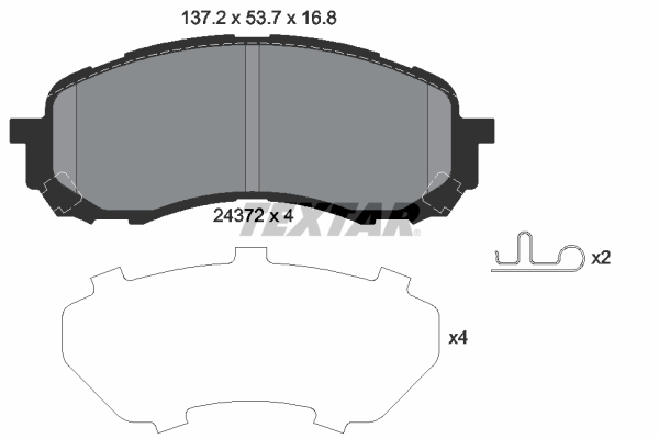 Тормозные колодки дисковые MINTEX арт. 2437201