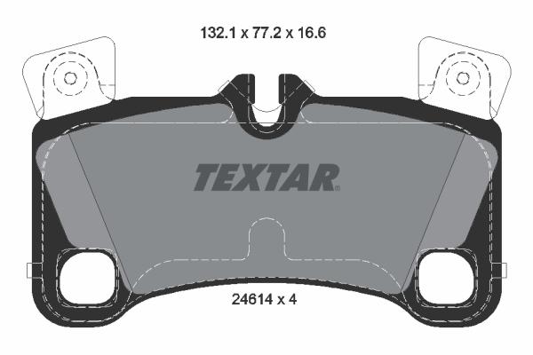 Тормозные колодки дисковые MINTEX арт. 2461401