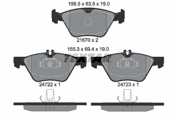 Тормозные колодки дисковые MINTEX арт. 2472201