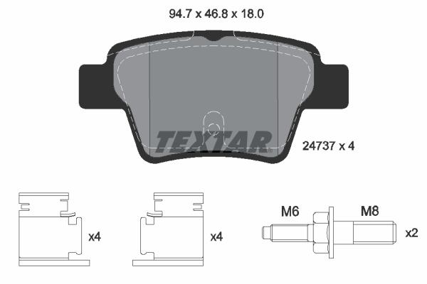 Тормозные колодки дисковые MINTEX арт. 2473701