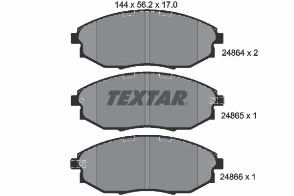 Тормозные колодки дисковые MINTEX арт. 2486401