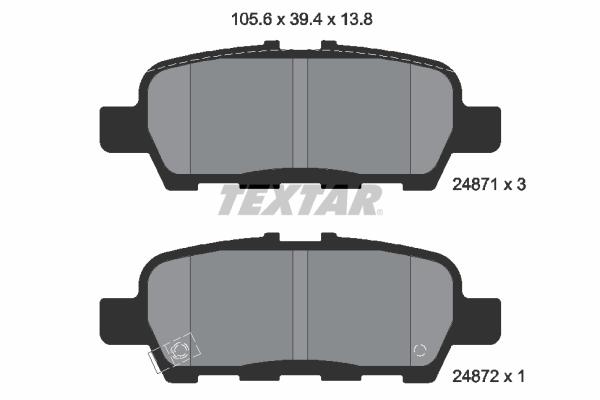 Тормозные колодки дисковые MINTEX арт. 2487101