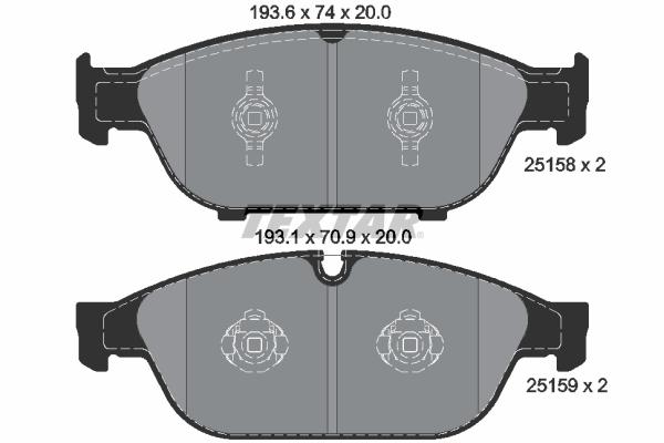Тормозные колодки дисковые MINTEX арт. 2515802