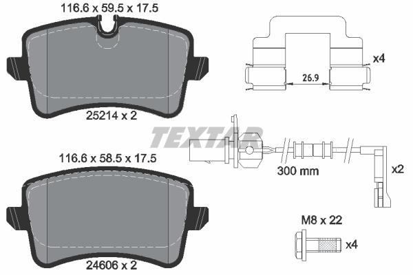 Тормозные колодки дисковые MINTEX арт. 2521401
