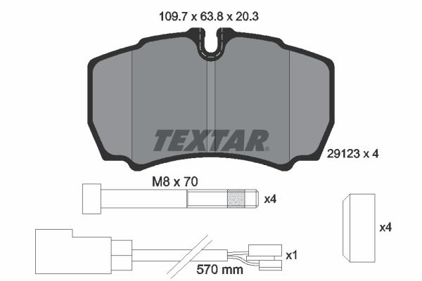 Тормозные колодки дисковые MINTEX арт. 2912307