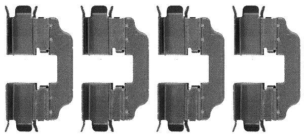 Ремкомплект тормозных колодок MINTEX арт. 82076200