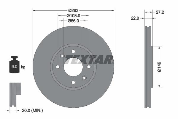 Тормозной диск MINTEX арт. 92059600