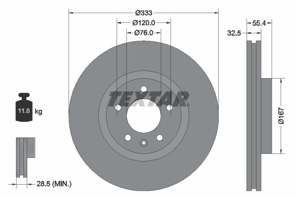 Тормозной диск MINTEX арт. 92121305