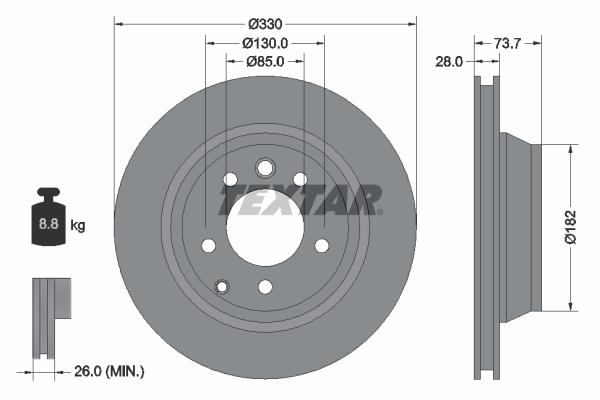 Тормозной диск MINTEX арт. 92122005