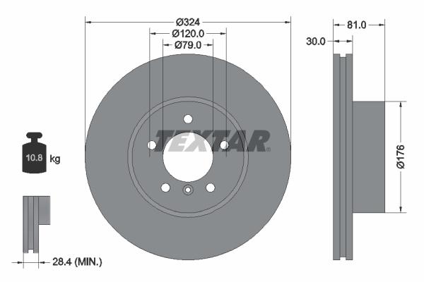 Тормозной диск MINTEX арт. 92122805