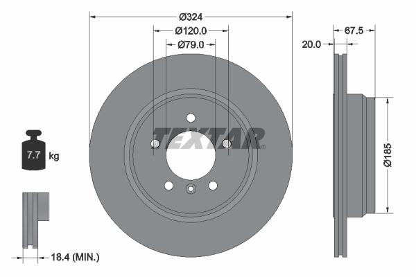 Тормозной диск MINTEX арт. 92123103