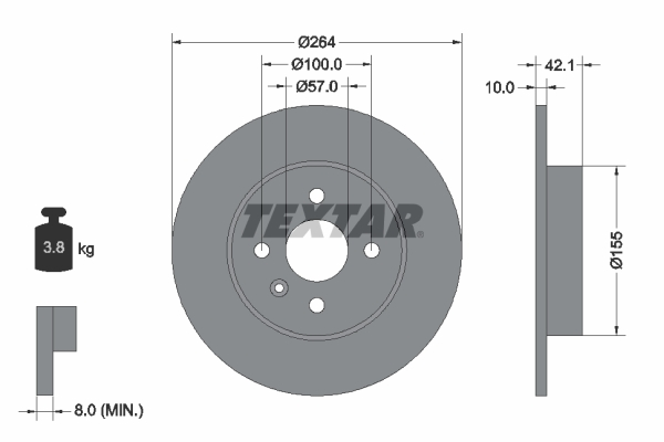 Тормозной диск MINTEX арт. 92124703