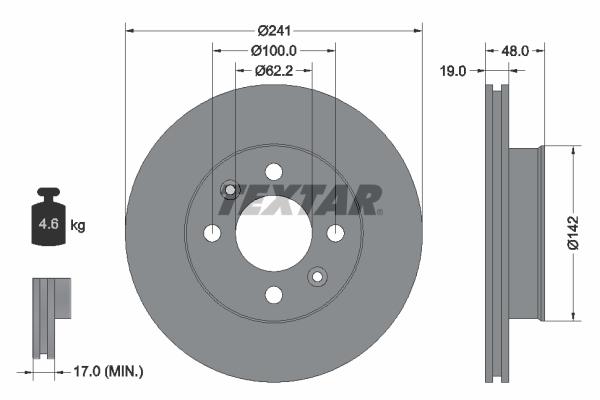 Тормозной диск MINTEX арт. 92134103