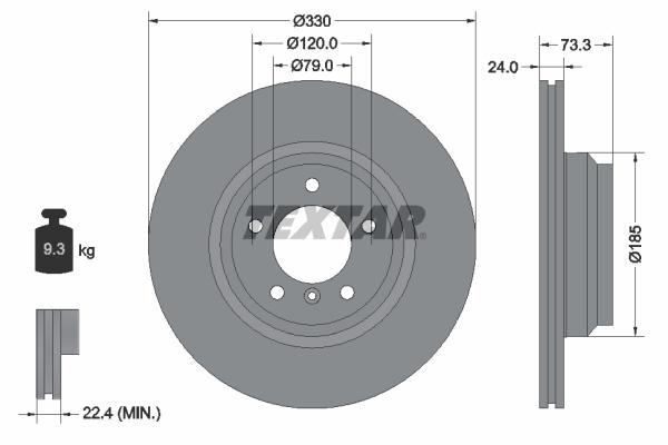 Тормозной диск MINTEX арт. 92137805