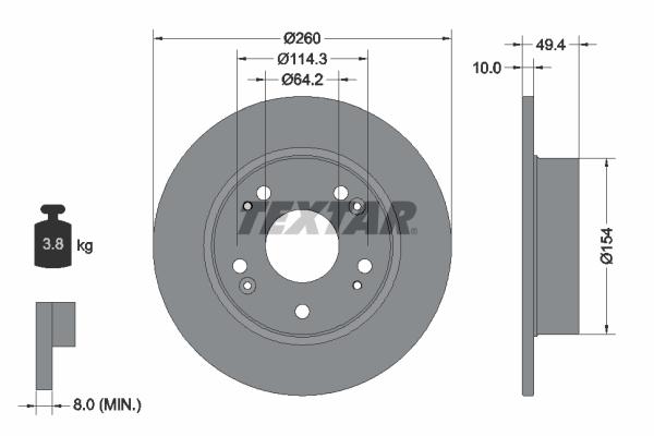 Тормозной диск MINTEX арт. 92144603