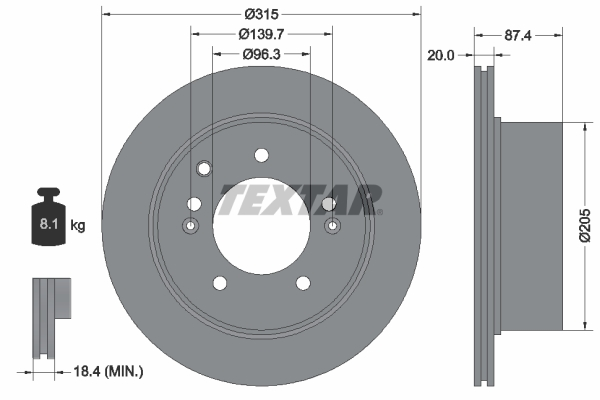 Тормозной диск MINTEX арт. 92147400