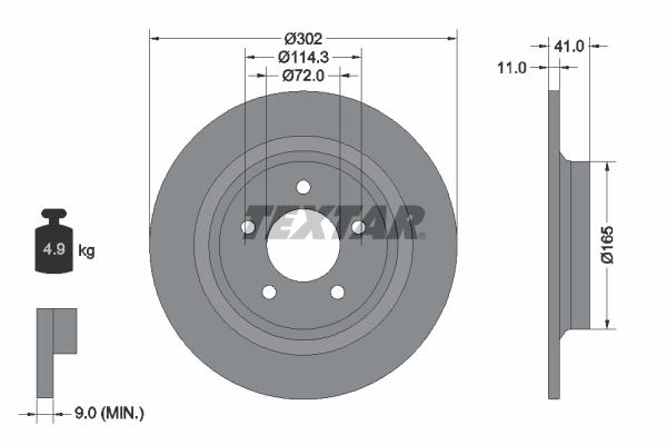 Тормозной диск MINTEX арт. 92148200