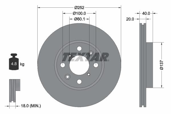 Тормозной диск MINTEX арт. 92148903