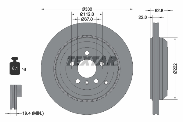 Тормозной диск MINTEX арт. 92150903