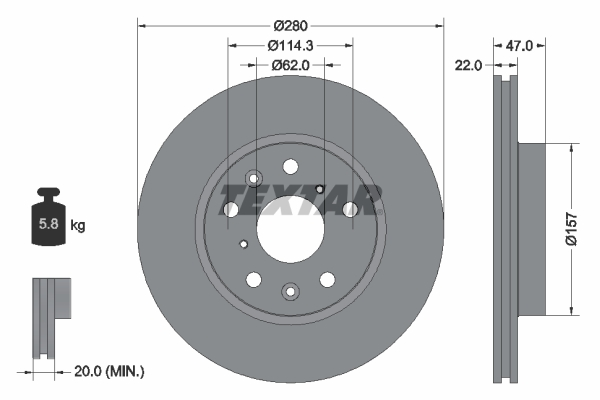 Тормозной диск MINTEX арт. 92156600