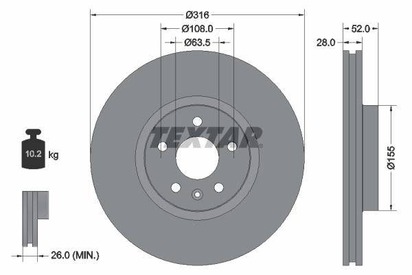 Тормозной диск MINTEX арт. 92162305
