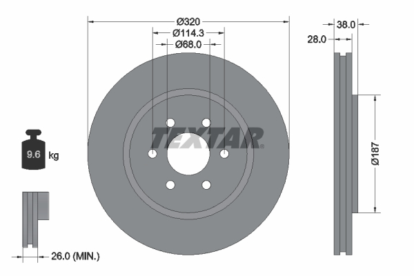Тормозной диск MINTEX арт. 92164405