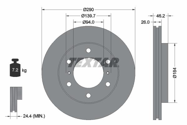Тормозной диск MINTEX арт. 92167103