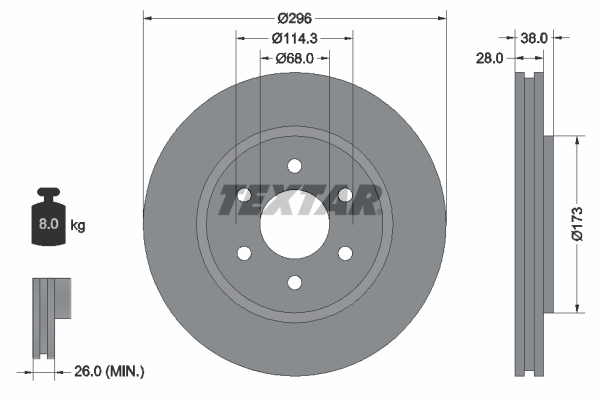 Тормозной диск MINTEX арт. 92199603